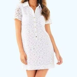 NWT white Lilly Pulitzer Nelle dress